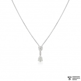 White Gold Diamond Drop Pendant